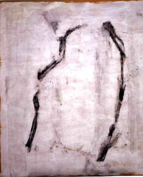 Charles Maussion Oiseau Nº12 2002 peinture à l'oeuf 171,5x158 cm