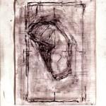 Charles Maussion Oiseau Nº13 2002 peinture à l'oeuf 33x24 cm