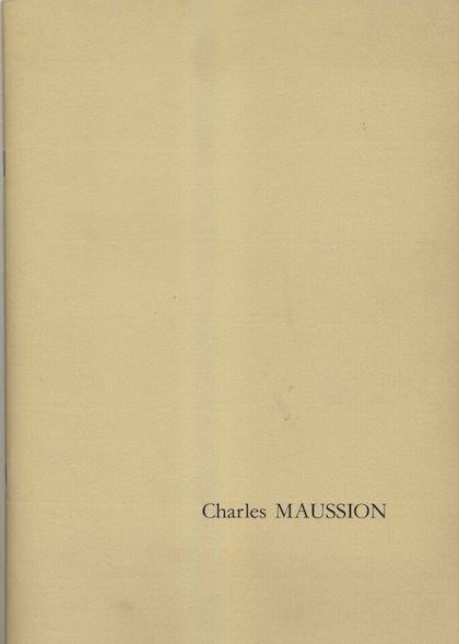 Charles Maussion Catalogue Dessins & Peintures Galerie Ditesheim