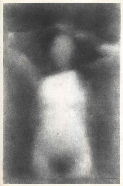 Charles Maussion Galerie Krugier Nu Les Bras Derrière La Tête | 169x110 cm | Dessin 1982
