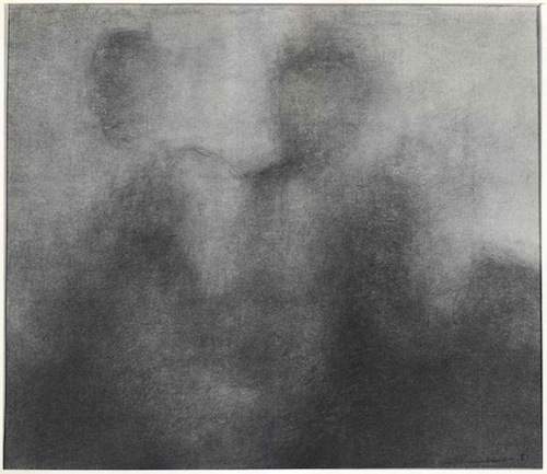 Charles Maussion Galerie Krugier Quatre Personnages crayon & estompe papier 1981